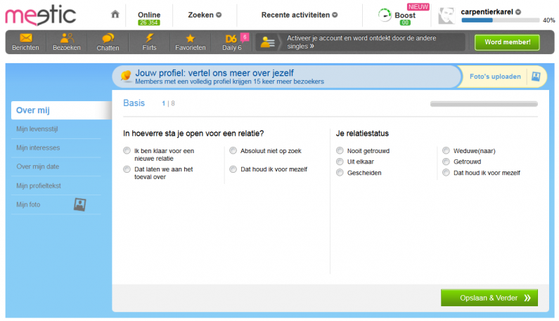 meetic-inschrijving-proces